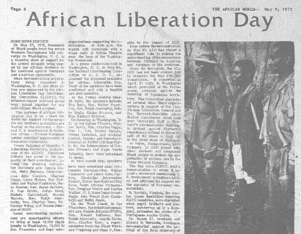 African World, ALD copy
