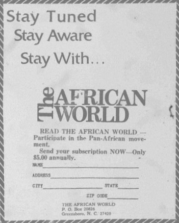 African World Subscription Ad