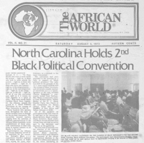 African World, NC Black Political Convention, Cropped